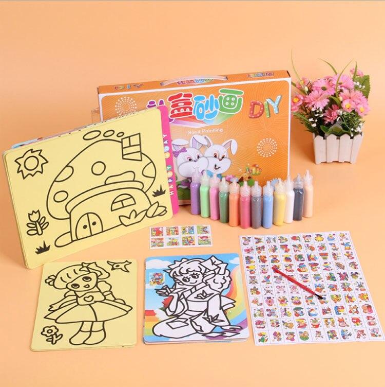 ducatifs bande dessine la main bricolage sable peinture outils kit color sable peinture dessin enfants - Dessin Sable Color
