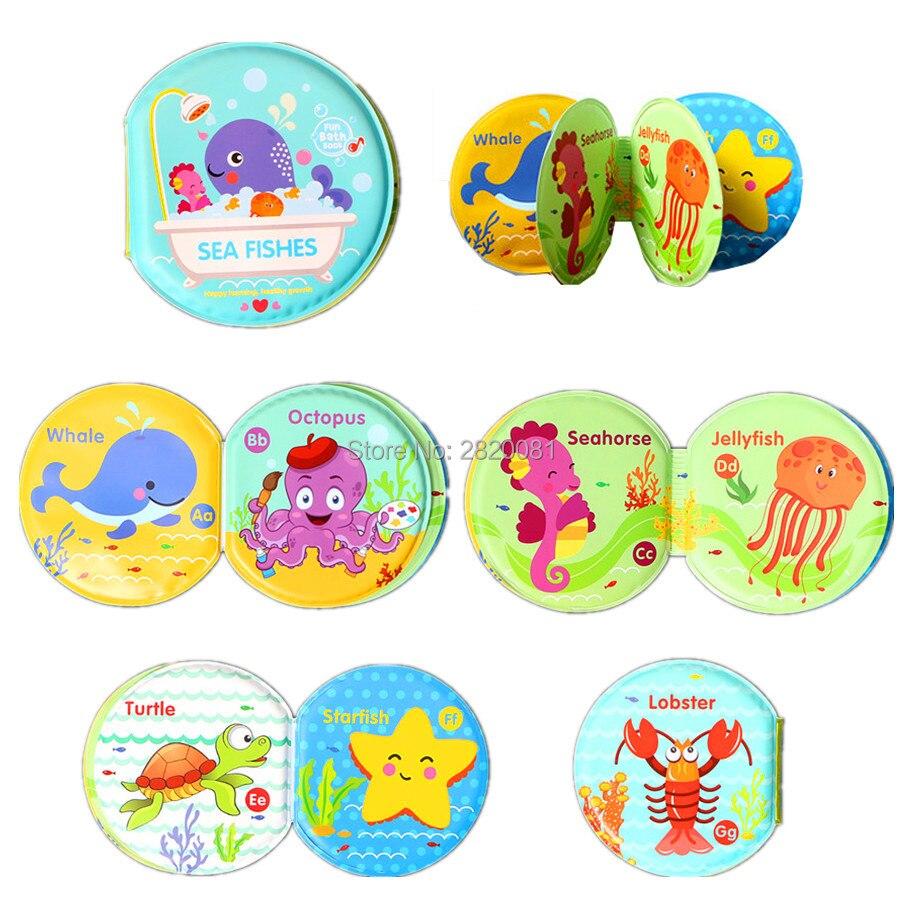 ЕВА весло игрушка водонепроницаемый ванна книги для ребенка раннего обучающий книги, цифровой животное из зоопарка морских рыб 3 шт. смешно,... ...