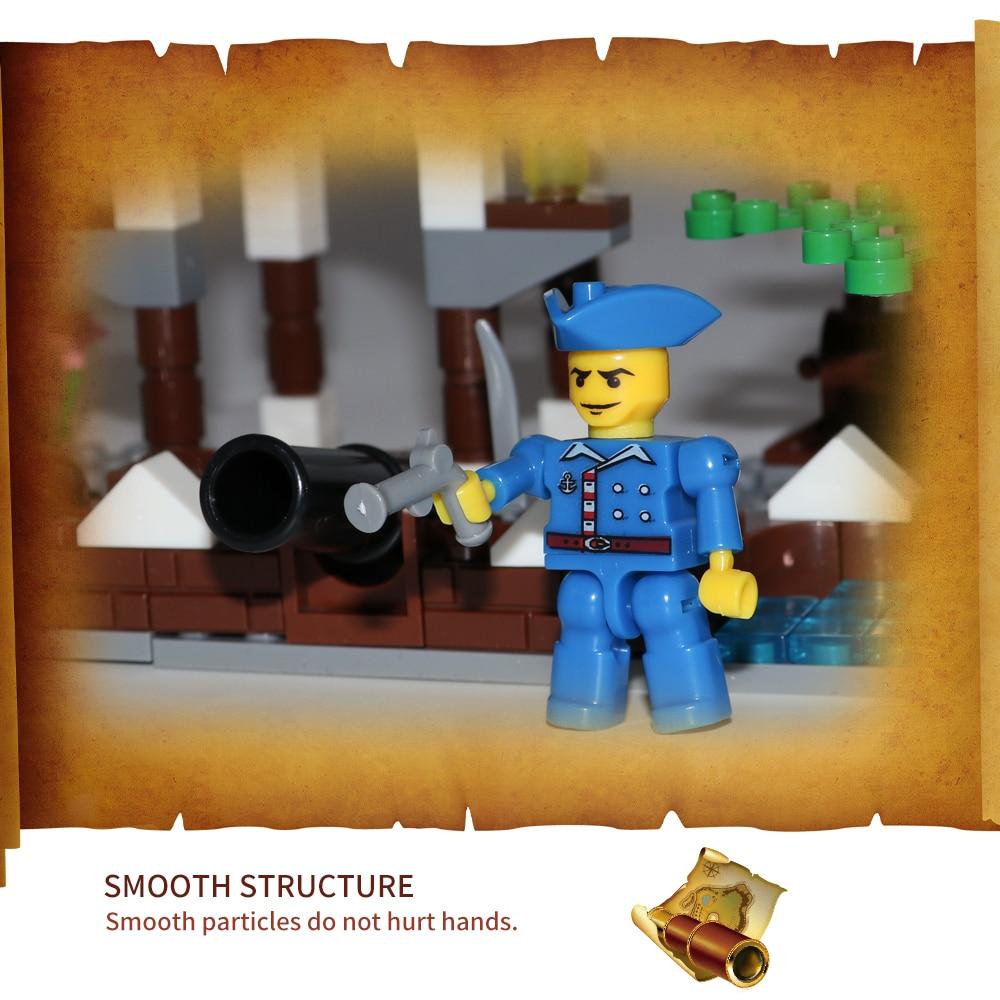 202Pcs Enlighten Pirates of Fierce Cannon Volley Strike Back Pirates Blocks Bricks Sets Adventure Toys for Children