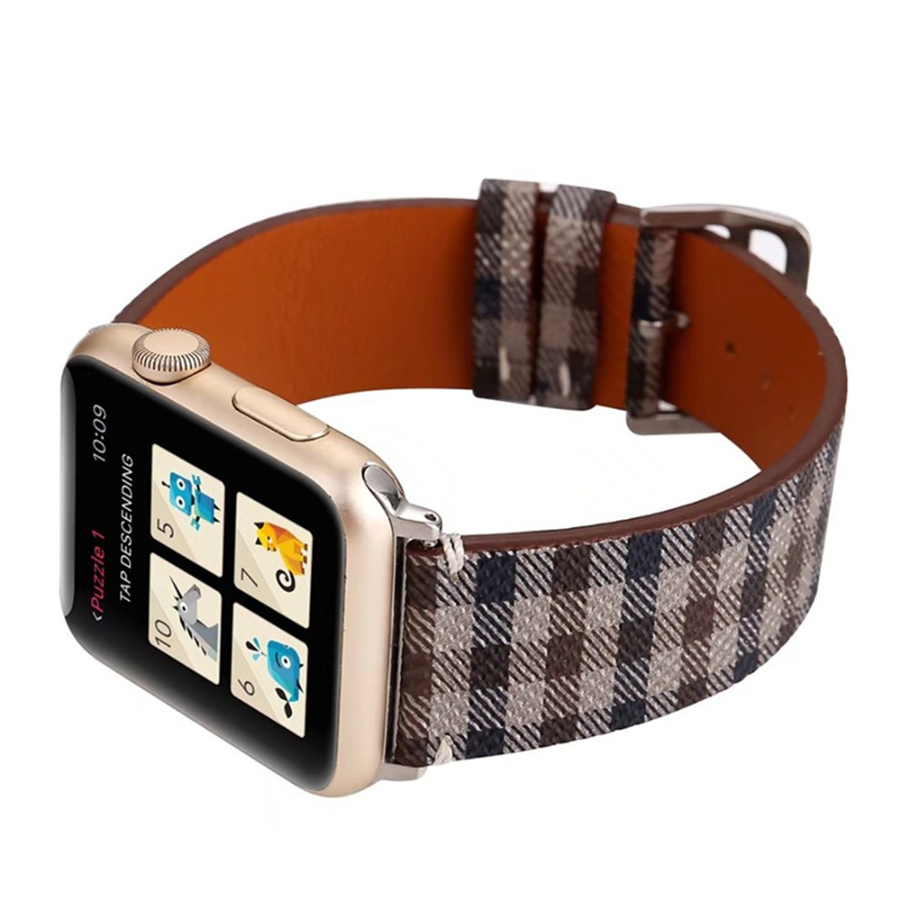 Leather strap For Apple Watch band correa aple watch 42mm 38mm Bracelet wrist wristband for iwatch series 3 2 1 Replacement belt cowhide genuine leather strap watch band for apple watch iwatch series 1 series 2 38mm 42mm wristband replacement with adapter