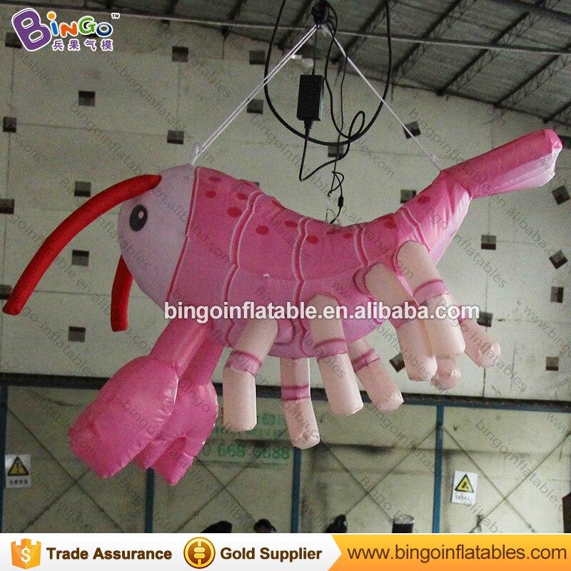 По индивидуальному заказу 1,5 метров в длину надувные креветки декоративные удар со шнуровкой маленьких креветок надувная лодка для украшен