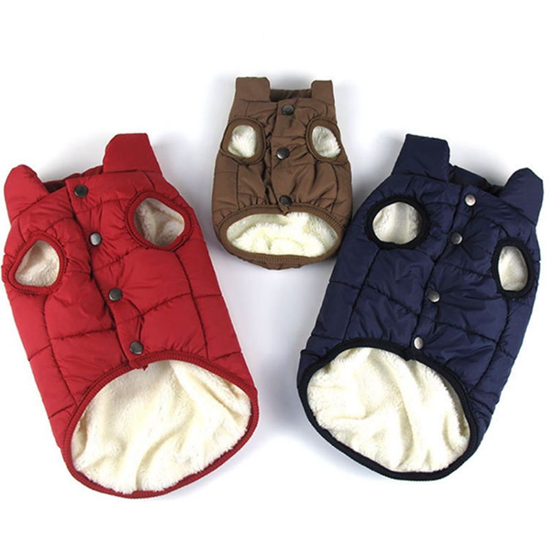 Warm Dog Clothes For Small Dog Windproof Winter Pet Coat Jacket Padded Clothes Puppy Outfit Yorkie Chihuahua Bulldog Clothes