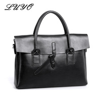 LUYO New Arrival Vintage Genuine Leather Women Function Laptop Briefcase Portfolios Maleta Top handle Bags Shoulder Bags Female