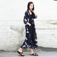Zomer vrouwen blouse plus size xl-4xl dierlijke lange blouse shirt flare mouw half kimono vest zwart cool blouse blusas