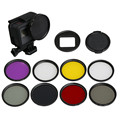 Action Camera 52mm UV CPL Star Filter for GoPro Hero 5 Black Accessories Go Pro Hero5 Adapter Ring Lens Cap Glass Lens Protector