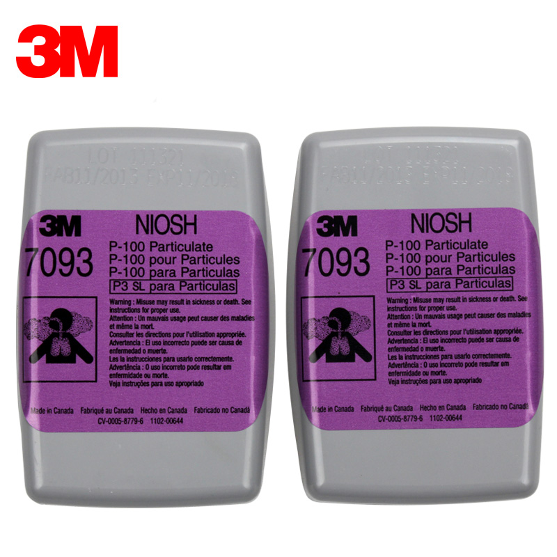 3M 7093 P100 Gas Cartridge Filter Protect Against Particulates/PM0.3/Welding Smoke Fit for 3M 6200/6800/7502 Mask KM004 3m 2096cn p100 respirator mask filter genuine security 3m filter cotton against acid gas dust particulates welding dust filter