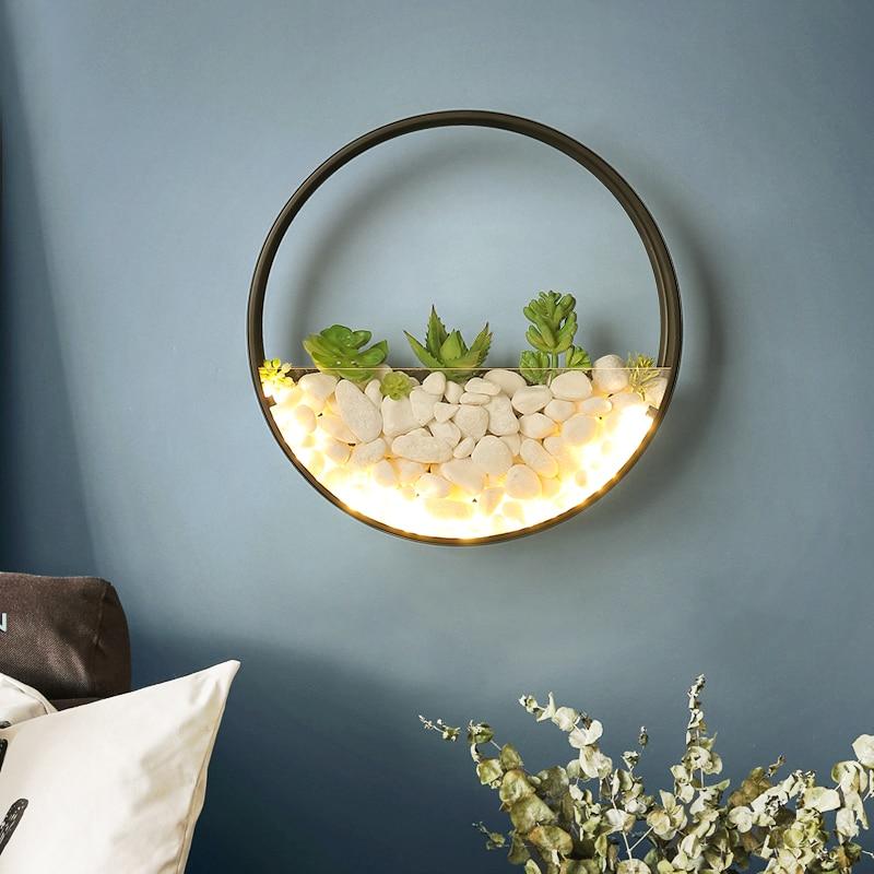 nordic planta luzes de parede criativo lampada cabeceira quarto casamento escada sala estar simples e moderno