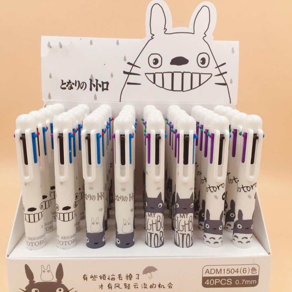 White Totoro 6 Colors Chunky Ballpoint Pen School Office Supply Gift Stationery Papelaria Escolar