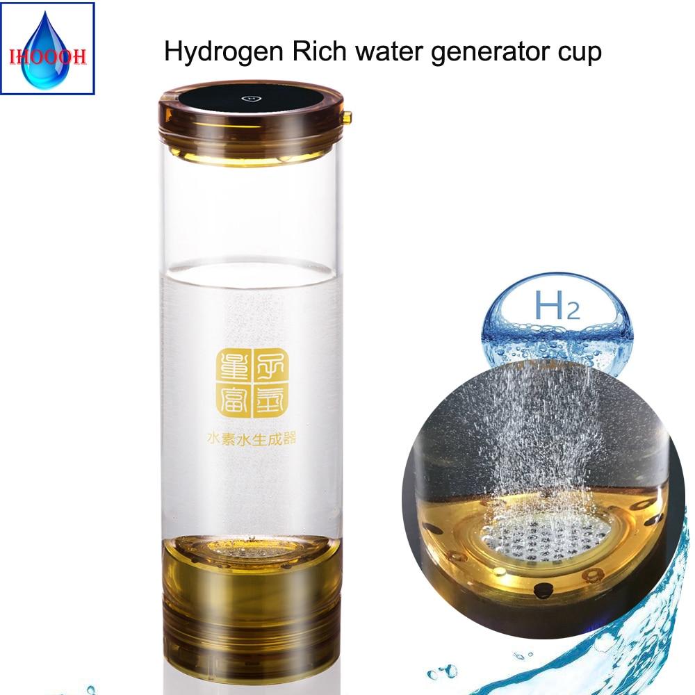 H2 USB linha De Hidrogênio De Eletrólise gerador de água 600 ML Anti envelhecimento água rica em hidrogénio copo/garrafa Tomada de fábrica