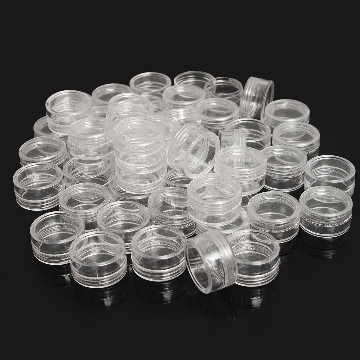 50 Pz di Plastica Trasparente 5 ml Bottiglie di Scintillio Contenitore Vaso Cosmetico Vuoto Caso Ombretto Crema Per Il Viso ombretto Vuoto Chiodo pentole