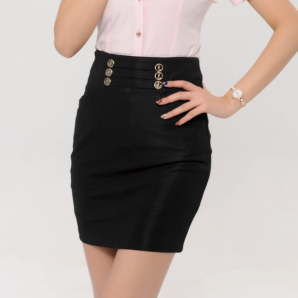 Black Pencil Work Skirt - Dress Ala