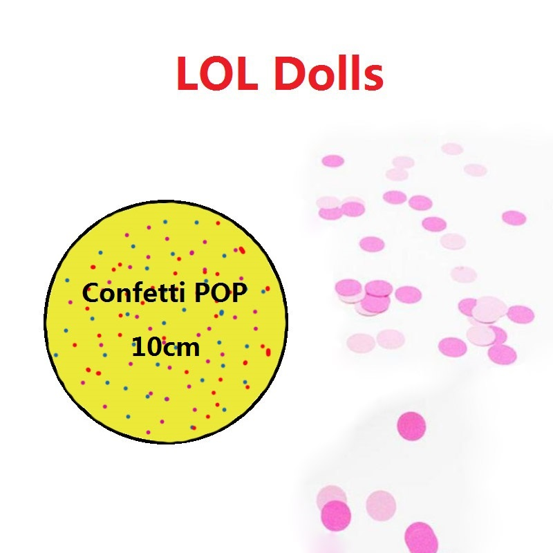 10cm Unpacking Confetti POP LOL Dolls Toys Baby Girls Tear Open Color Change Dolls in Ball Action Figures Girls Birthday Gifts цена 2017