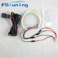 Car Headlight Projector Led-Angel-Eyes Fstuning Xenon White Auto SMD for E39/E46 4--131mm