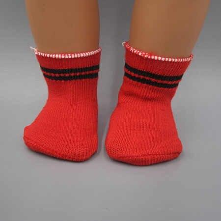 Подходит 45 см Американская кукла и 43 см игрушка Новорожденные куклы аксессуары детские носки белый розовый красный