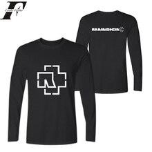 Rammstein Mode Langarm T-shirt Männer & frauen Slim Fit T-shirts mit Baumwolle T-shirt Plus Größe Rammstein in t hemd homme