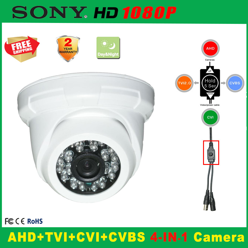 1080P Indoor Security AHD TVI CVI Analog CCTV Camera 5*24PCS IR LED Home Video HD Night Vision CMOS Mini Plastic Dome cameras hd 1mp ahd security cctv camera 720p indoor dome ir cut 48leds night vision ir color 1080p lens
