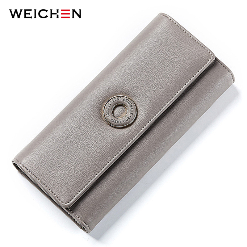 WEICHEN Many Departments Women Wallets Card Holder Coin Cell Phone Pocket Ladies Clutch Purse Long Leather Brand Female Wallet