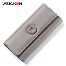 WEICHEN Many Departments Women Wallets Card Holder Coin Cell Phone Pocket Ladies Clutch Purse Long Leather Brand Female Wallet 3 fold pu leather women wallet clutch famous brand design ladies purse card phone holder notecase clutch long burse coin pocket