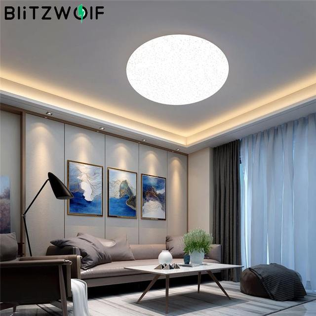 Blitzwolf BW LT20 2700 6500K Smart LED Ceiling Night Light 24W AC100 240V WiFi APP Control Work with Amazon Echo for Google Home