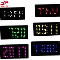 Zirrfa DIY DS3231 Two Sets Of Alarm Clocks Big Size Dot Matrix Electronic Clock Kit