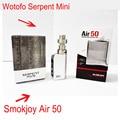 Smokjoy Air 50 RTA коробка мод TC Wotofo змей мини атомайзеры испаритель elektronik sigara RTA оригинал электронная сигарета комплект