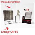 Smokjoy Air 50 RTA Box Mod TC Wotofo Serpent Mini Atomizer vaporizer elektronik sigara rta Original Electronic Cigarette Kit