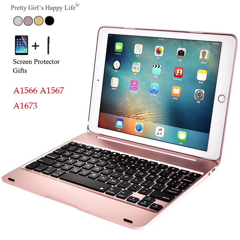 For iPad Pro 9.7 inch 2016 Wireless Bluetooth Keyboard Case For iPad Pro 9.7(2016) Tablet PC Flip Stand Cover +Stylus