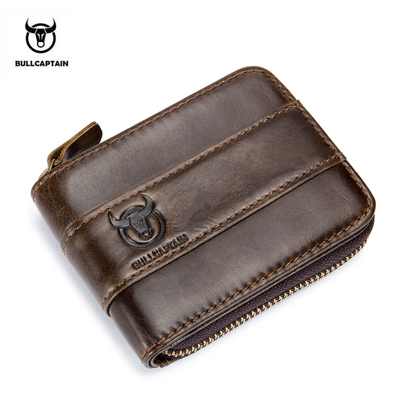 BULLCAPTAIN New Arrival Male RFID leather wallet Men Wallet Cowhide Coin Purse Slim Designer Brand Wallet Billetera para hombres bullcaptain new arrival 100