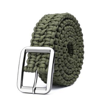 Paracord 550 Survival Belt Rope Hand Made Tactical Military Bracelet akcesoria zewnętrzne Camping sprzęt turystyczny tanie i dobre opinie CN (pochodzenie) Military Tactical Paracord Belt