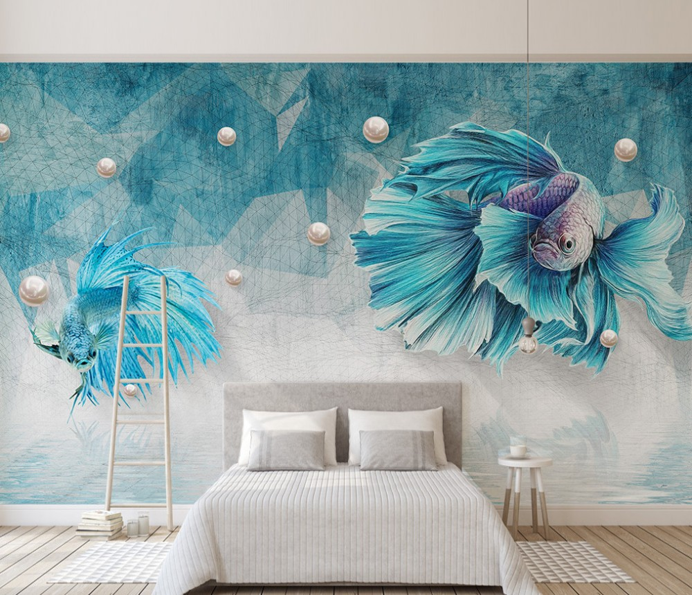 Painting Supplies & Wall Treatments Home Improvement Custom 3d Photo Wallpaper Mural Non-woven Living Room Tv Sofa Background Wall Paper Guppy Jewellery Picture Wallpaper Home Decor Complete In Specifications