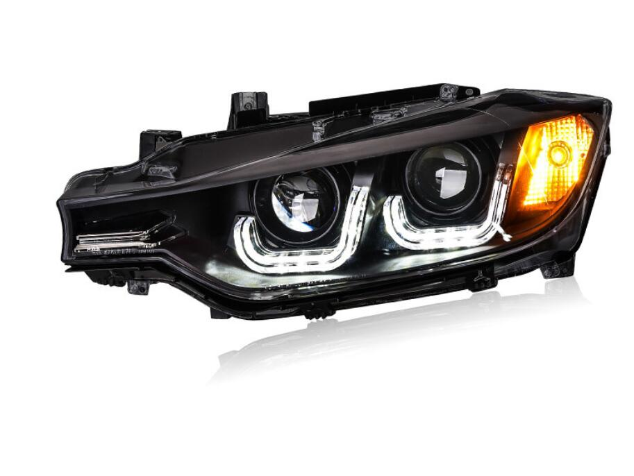 2pcs Car Styling for <font><b>F30</b></font> F35 <font><b>Headlight</b></font> 2013~2016year,318i 320i 330i 325i Head Lamp Auto <font><b>LED</b></font> DRL hi/lo HID Xenon bi xenon lens image
