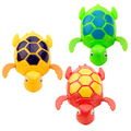 Nadar Tartaruga Ferida-up Cadeia Clockwork Animal bonito Do Bebê Kid Brinquedo de Banho Casa de Banho