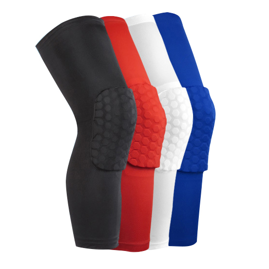 1 Piece soft knee sleeve breathable sports walker football breathable safety protective cover Honeycomb knee guard