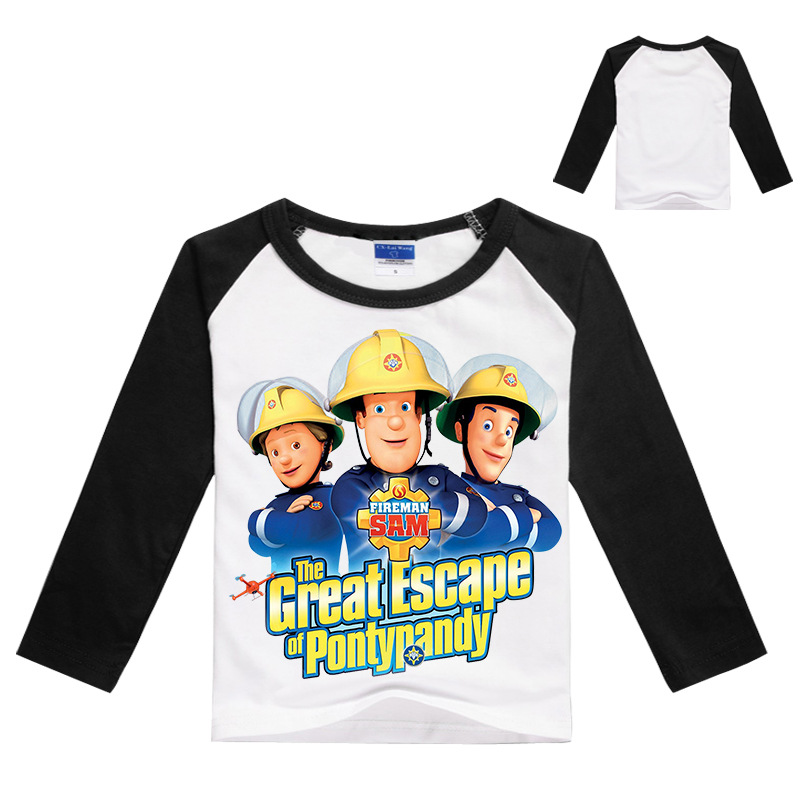 52fbe7a97ce1 2018 New 3T 8T Boys T shirt Kids Tees Baby Boy blue tshirts print Firetruck  Long Sleeve 100% Cotton fireman shirt-in T-Shirts from Mother & Kids on ...