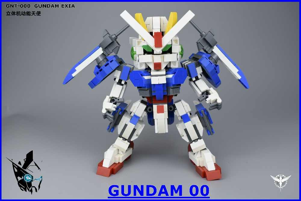 2019 Kennie New Arrive Personal diy 880pcs 00gundam GN-0000 model Blocks building toys Action Figure for Creative children gifts