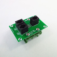 RJ9 4P4C Right Angle Jack 3-Way Buss Breakout BoardTerminal BlockConnector.