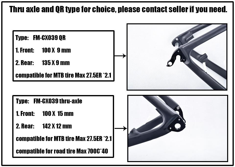 HTB1TqrQKh1YBuNjy1zcq6zNcXXa7 - 2018 New Cyclocross Frame Aero Road or Gravel Bike Frame S/M/L size Disc Bike Carbon frameset QR or thru axle