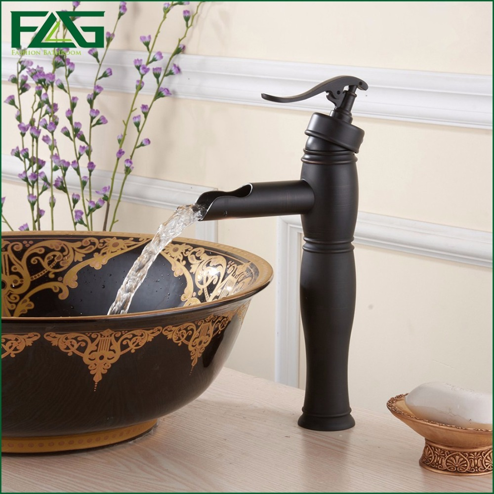 Flg Bathroom Faucet Handle Oil Rubbed Bronze Bathroom Sink Waterfall Faucet Nozzle For Polishing