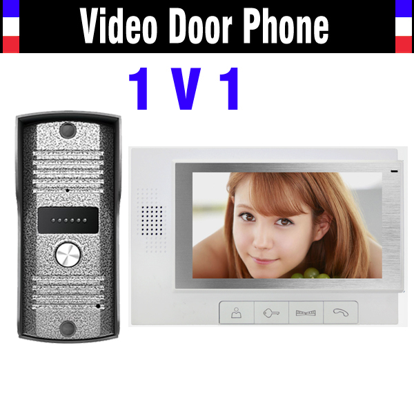 7 Inch Monitor Wired Video Door Phone Intercom System Video DoorPhone 2 Monitor 1 Door Camera Video interphone Intercom Kit 3v3 7 inch monitor water proof ip66 wired intercom video door phone