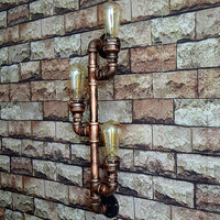 Industrial Iron Pipe lamp for wall lamp loft decor steampunk lamp Industrial Bedroom Living room Bar Dining Room Wall Sconce