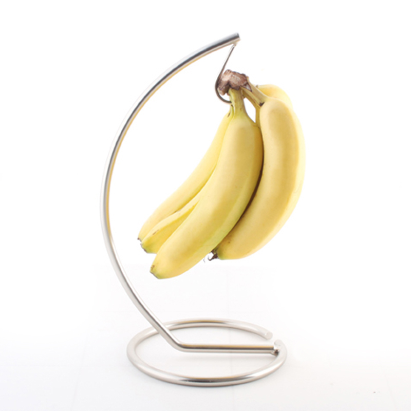 Acier inoxydable banane métal arbre support crochet cuisine stockage durable Rack fruits magasin Show