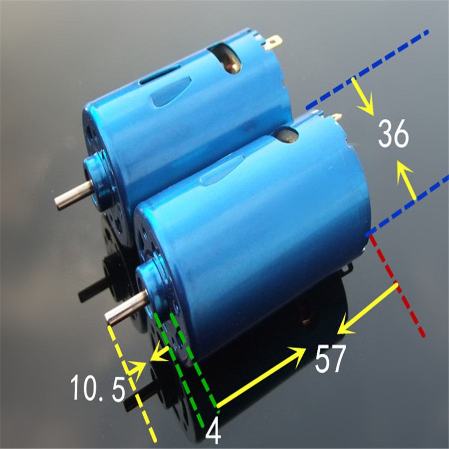 Super Speed K870b Blue Shell 550 DC MOTOR with Fan High Torque Ferromagnetic Model Car Ship Power Motor DIY Technology Make