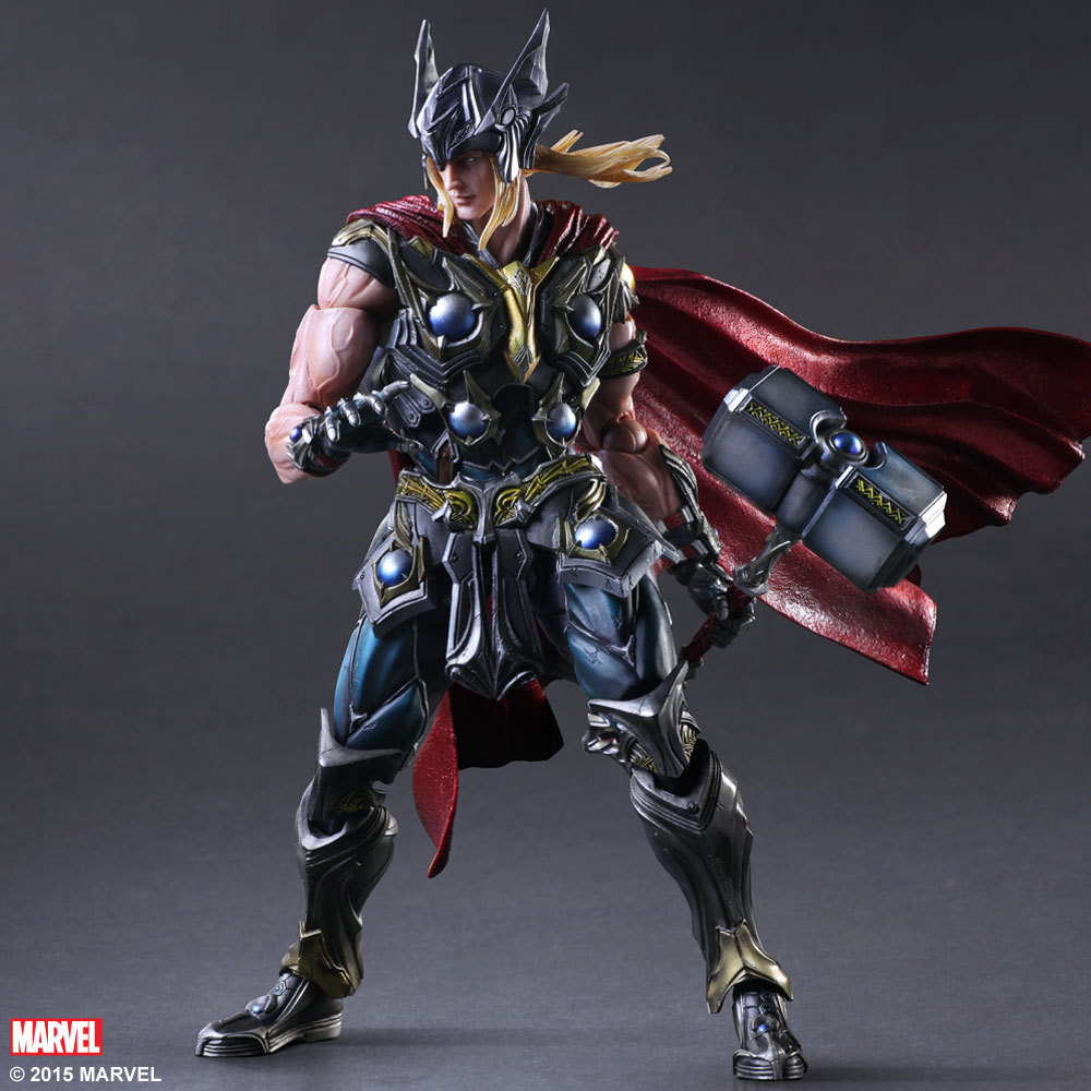 Free Shipping 11 PA KAI Marvel The Avengers Hero Thor Boxed 27cm PVC Action Figure Collection Model Doll Toy Gift free shipping 14 hot game hero caitlyn the sheriff of piltover boxed 35cm pvc action figure collection model doll toy gift