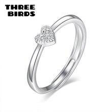 New Trendy Delicate Silver Color Zircon Heart Love Rings For Women Adjustable Engagement Finger Ring Ladies Jewelry недорго, оригинальная цена