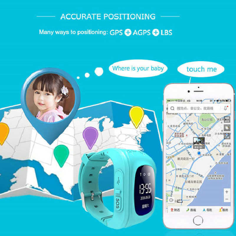 Smart Watch Kid Anti Lost GPS Smart Wristband Pedometer SOS Call Location Finder Tracker Monitor Baby Wristwatch For Boy Girl