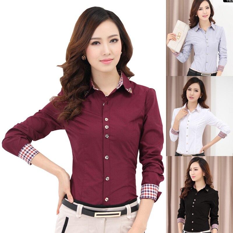Online Shop 2016 Blouses Shirts Women's Clothes TurnDown Collar ...