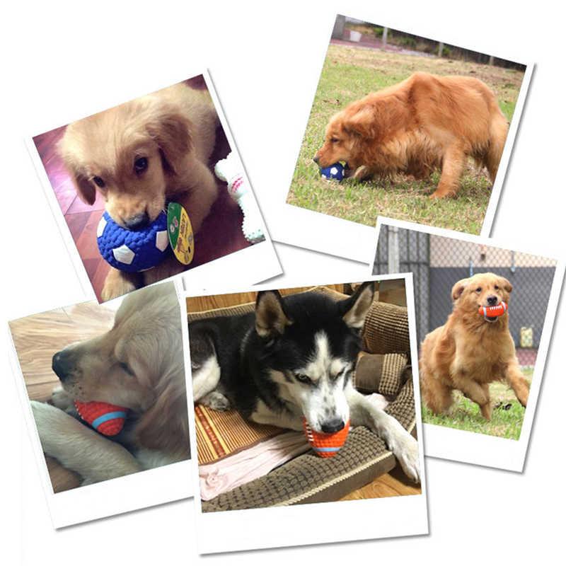 Originele Kauwen Speelgoed Voor Huisdieren Hond Kat Training Vreemd Geluid Interactieve Speelgoed Piepende Giggle Bal Zacht Rubber Gevuld Met Pp katoen