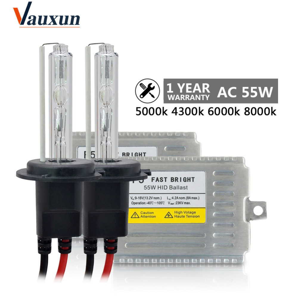 Fast Bright HID Kit AC 55W H7 Xenon H4 H1 H3 H11 9005 9006 881 D2S 4300k 5000k 6000k 8000k Xenon Bulb Car light source xenon H11 digitalboy 2pcs 12v 55w h3 xenon bulb lamp replacement hid xenon lamp car fog lights 4300k 5000k 6000k 8000k car light source