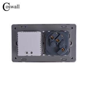 Image 5 - COSWALL Steckdose EU Standard Steckdose Mit Dual USB Smart Induktion Ladung Port Für Mobile 2,1 EINE Kristall Glas panel