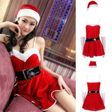 15d07ab9e Newest Arrivals Fashion Hot Christmas Women s Sexy Santa Claus Costume  Cosplay Party Outfit Fancy Dress